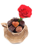 cup of delicious chocolates - I love you poster
