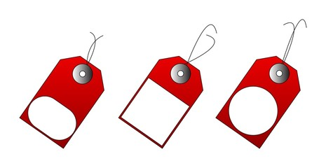 Illustration of red sales tags