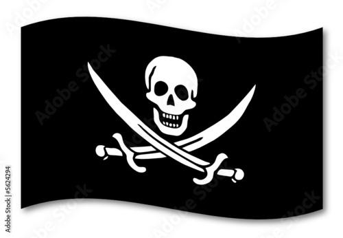 piraten fahne schatten