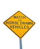 Horse Drawn Vehicles Sign poster