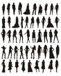 mujeres modelos en vector