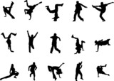 hip hop and dancing silhouettes poster