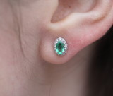 diamond and emerald earring poster