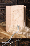 Cream Colored Jewellery box and bridal garter poster