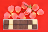 chocolates I love you and rose poster