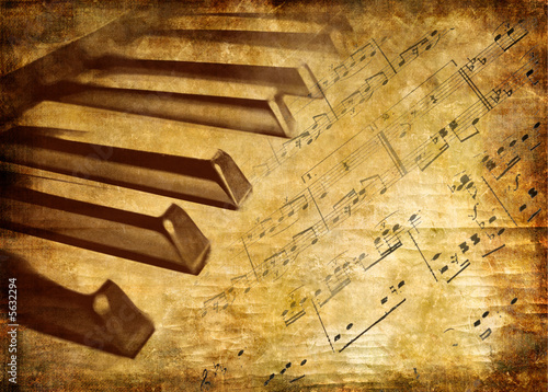 canvas print picture musical vintage background