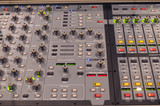 Professional digital music mixer console poster