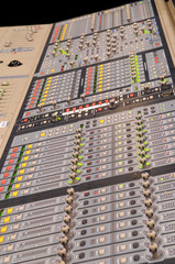 Professional digital music mixer console