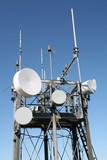 Detail of modern communication array poster