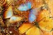 Quadro messy butterflies  - artistic clip-art