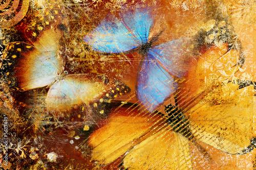 messy butterflies  - artistic clip-art