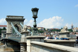 Budapest Chain Bridge with Lions poster
