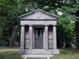 Greek Temple Style Mausoleum poster
