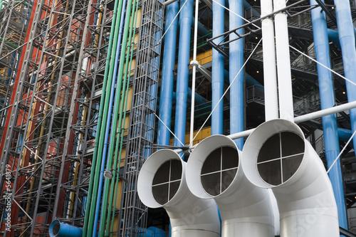 Pompidou center in Paris, France. - 5641879