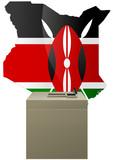 Election Kenyane poster
