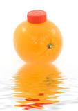 orange juice summer refreshment poster