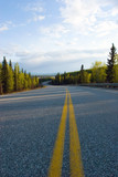 Highway running through Alaska wilderness poster