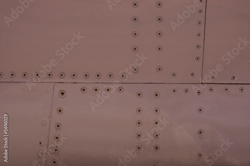 poster of Grungy aluminum material of an airplane