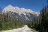 Straight scenic road in British Columbia, Canada poster
