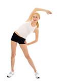 sporty woman poster