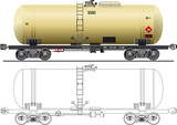 Oil / gasoline tanker car poster
