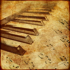old piano - musical background
