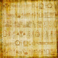 papyrus parchment with hieroglyphics