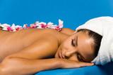 Fototapety Beautiful woman on massage table