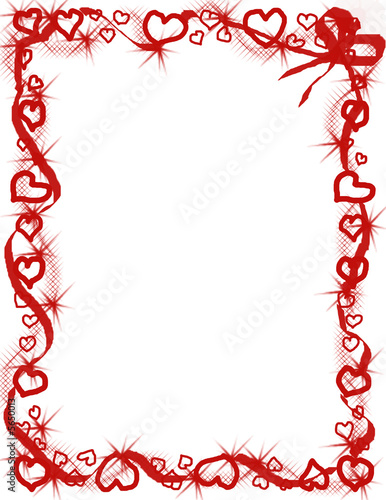 Valentine Hearts Border Valentine hearts border