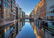 Leinwanddruck Bild - Fleet in Hamburg