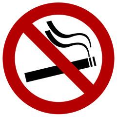 panneau interdit de fumer cigarette lieu publique simple