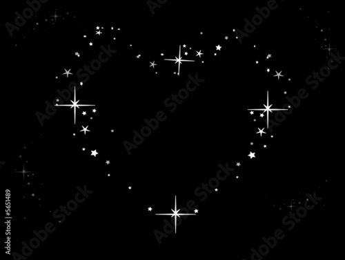 coeur dans un ciel toil de choucashoot fichier vectoriel libre de droits 5651489 sur. Black Bedroom Furniture Sets. Home Design Ideas