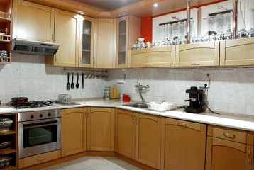 Interior shot of a modern well equipped kitchen