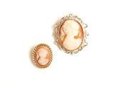 Antique cameo brooch. poster