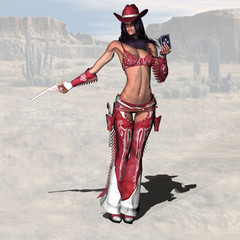 Cowgirl - Image contains a Clipping Path