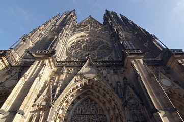Cathedral of St Vitus in the Prague castle