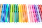 colored felt pens poster
