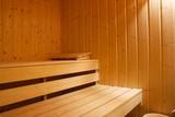 Interior shot of a sauna poster