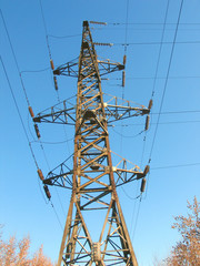 Electric steel tower