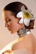 Quadro beautiful extravagant bride with fashionable make-up
