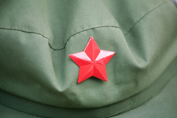 red army cap with a red star