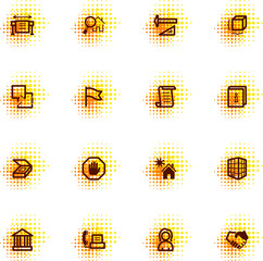 building icons, dots series