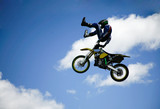 stunt man in the clouds