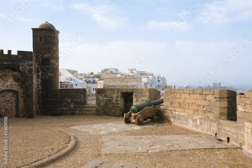 View of Essaouira fortress in the morning