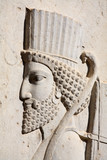 Bas-relief of Persian soldier from Persepolis poster