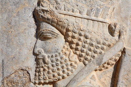 Leinwandbild Motiv Bas-relief of Persian soldier from Persepolis