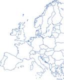 Karte Europa/EU mit Grenzen