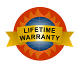 Lifetime warranty shield poster