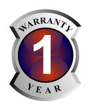 1 year warranty seal poster