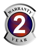 2 year warranty seal poster